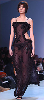 beautifully detailed dress from Fusha Designs Fall 2003